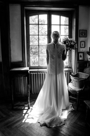 The last quiet minutes for the Bride before it all starts...