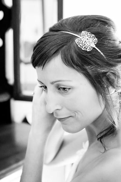 Un regard mélancolique de la mariée