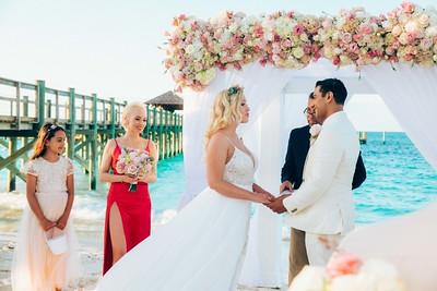 Destination Beach Wedding at Grand Hyatt Baha Mar in Nassau Bahamas photo by Reno Curling #renocurling