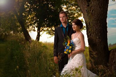 Wedding Portraits at Sunset