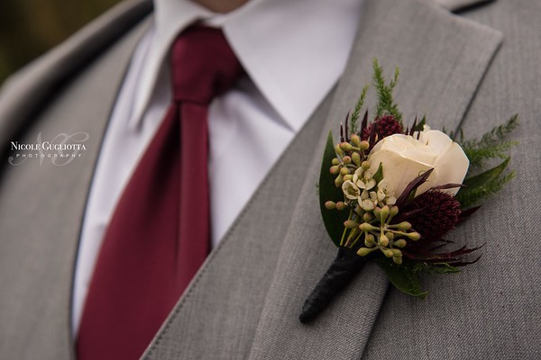 Winter Wedding Boutonniere