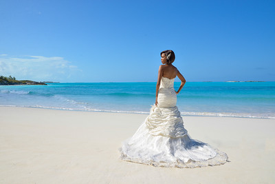 Kenyan Bride on an Exuma Beach
