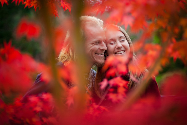 Cute Engagement in the Maple Leaves