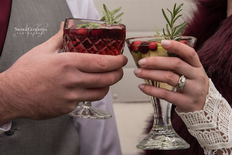 Cheers to the happy couple!