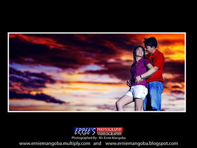 Sunset in Quirino Bridge, Bantay, Ilocos Sur, Philippines  with Hery and Milaflor Prenup