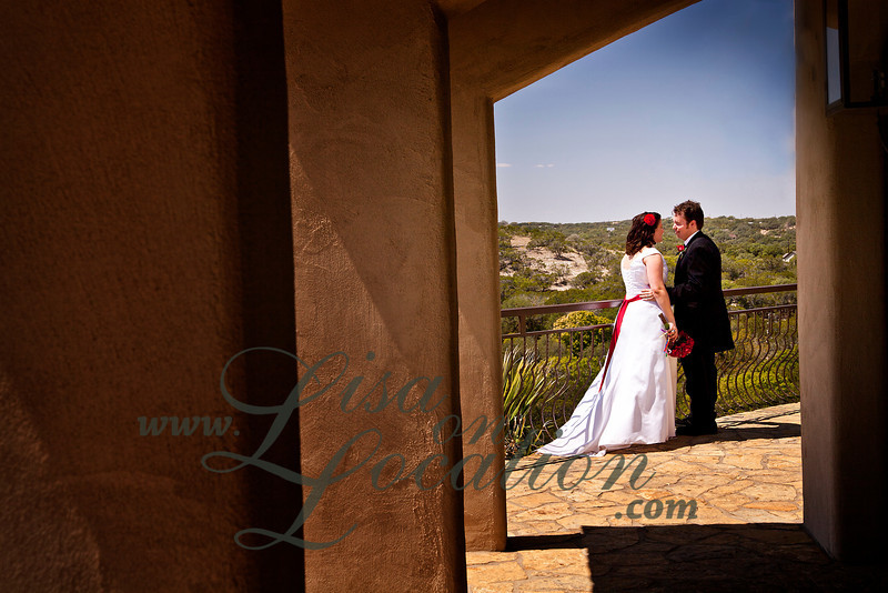 Wedding and reception at Chapel Dulcinea, the free wedding chapel, south of Austin. Photography by Lisa On Location.