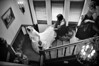BRIDE DESCNEDING STAIRS
