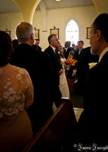 Jess coming up the aisle with her father.