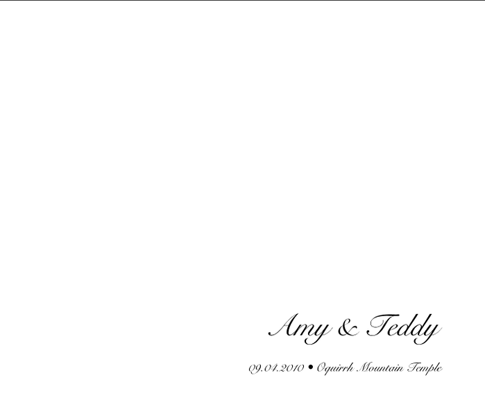 Amy & Teddy Album Spread 01