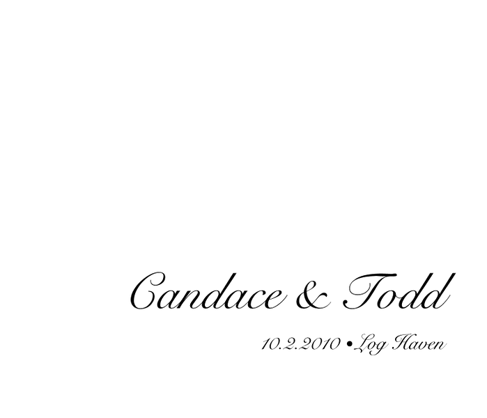 Candace & Todd Wedding Album 01 Title Page