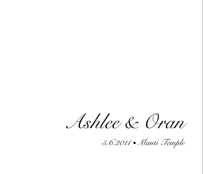 Ashlee & Oran Album Spread Title Page