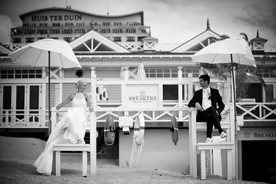 Huwelijksfoto bij Breakers Beach House