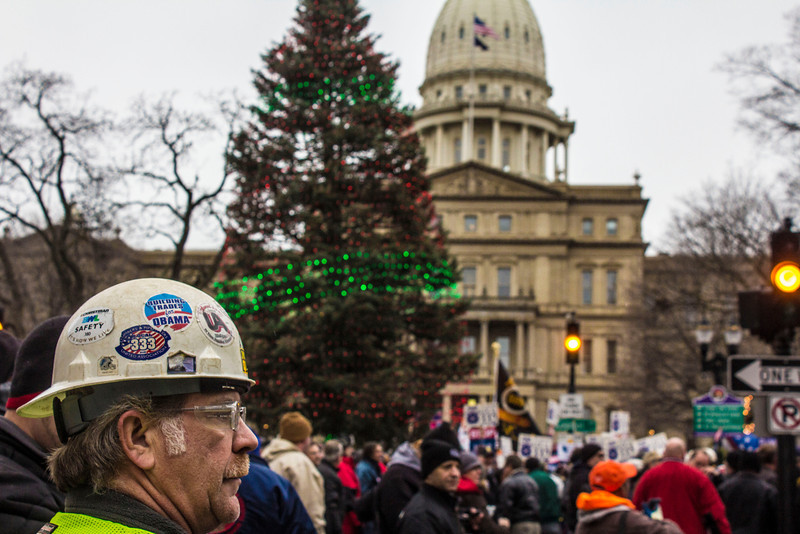 Right To Work Protest - Lansing Michigan - Capital - 12.11.12