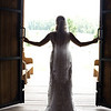 A stunning silhouette of the bride at her The Stables at Lake Martin bridal session. Photo by Daniel Taylor Photography