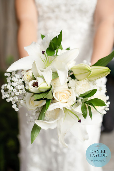 Gorgeous all-white DIY bouquet. Photo by Daniel Taylor Photography.