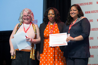 21st International AIDS Conference (AIDS 2016), Durban, South Africa. What is our goal? (WEPL01) Award Presentation: Prize for Excellence in Research Related to Children Affected by HIV, Professor Lorraine Sherr, Dr. Chewe Luo and Theresa Betancourt, 20 July, 2016. Photo©International AIDS Society/Rogan Ward