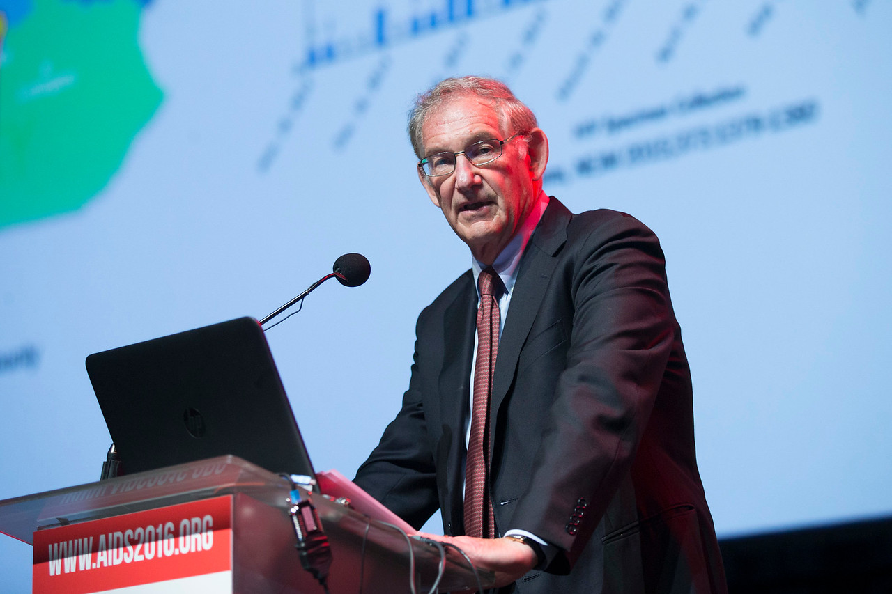 21st International AIDS Conference (AIDS 2016), Durban, South Africa. What is our goal? (WEPL04) Toward an HIV Vaccine  Larry Corey, Fred Hutchinson Cancer Research Center and Washington University, United States, 20 July, 2016. Photo©International AIDS Society/Rogan Ward