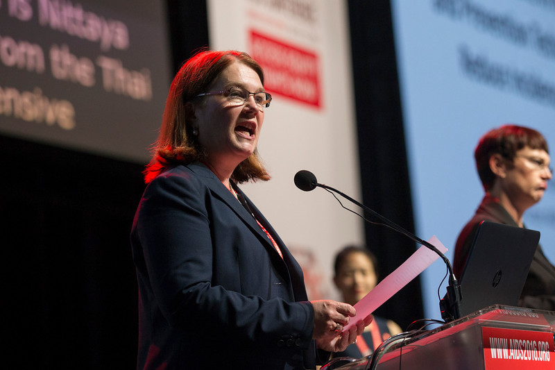 21st International AIDS Conference (AIDS 2016), Durban, South Africa. What is our goal? (WEPL01) Jane Philpott speaks, 20 July, 2016. Photo©International AIDS Society/Rogan Ward