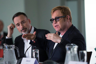 21st International AIDS Conference (AIDS 2016), Durban, South Africa. Press Conference: Elton John and PEPFAR Sir Elton John , 20 July, 2016. Photo©International AIDS Society/Rogan Ward