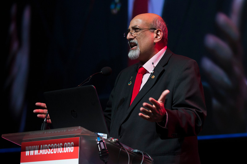 Accelerating the Decline of the Burden and Incidence of HIV in Sub-Saharan Africa (WESS01) Special Session. Salim Abdool Karim, Centre for the AIDS Programme of Research in South Africa (CAPRISA), 20 July, 2016. Photo©International AIDS Society/Rogan Ward