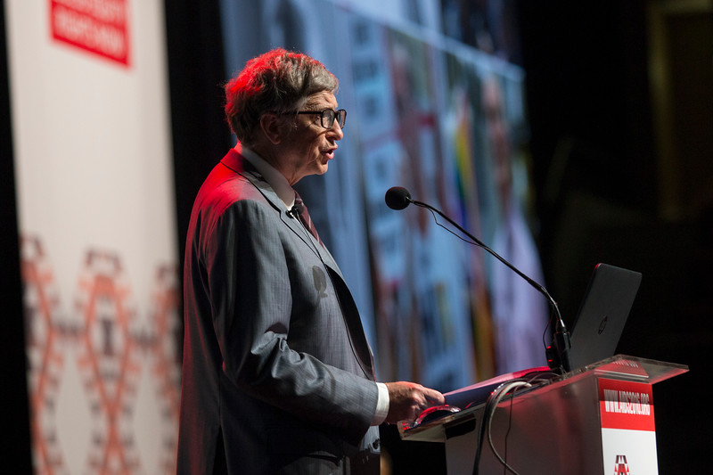Accelerating the Decline of the Burden and Incidence of HIV in Sub-Saharan Africa (WESS01) Special Session. Bill Gates speaks, 20 July, 2016. Photo©International AIDS Society/Rogan Ward