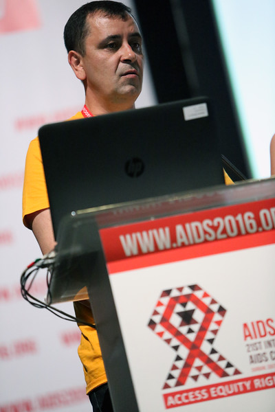 21st International AIDS Conference (AIDS 2016), Durban, South Africa. Opportunities for and Challenges to Sustainable Financing of the AIDS Response Symposia Session Wednesday 20 July : Venue -Session Room 11 Volodymyr Zhovtyak, East Europe and Cental Asia Union of PLWH, Ukraine  Photo©International AIDS Society/Abhi Indrarajan