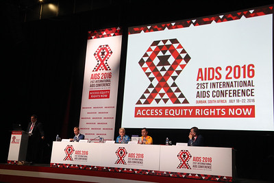 21st International AIDS Conference (AIDS 2016), Durban, South Africa. Opportunities for and Challenges to Sustainable Financing of the AIDS Response Symposia Session Wednesday 20 July : Venue -Session Room 11 The Panel : Mark Dybul, Jimmy Kolker, Christine Stegling, Volodymyr Zhovtyak and Philippe Douste-Blazy Photo©International AIDS Society/Abhi Indrarajan