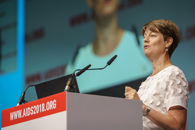22nd International AIDS Conference (AIDS 2018) Amsterdam, Netherlands.   Copyright: Matthijs Immink/IAS Building bridges from scientific innovation to implementation Photo shows: Deborah Waterhouse
