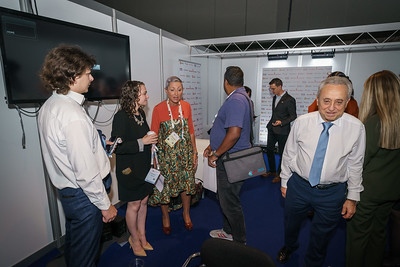 22nd International AIDS Conference (AIDS 2018) Amsterdam, Netherlands.   Copyright: Matthijs Immink/IAS Building bridges from scientific innovation to implementation Photo shows: Green Room Linda-Gail Bekker  Pedro Cahn