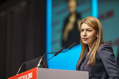 22nd International AIDS Conference (AIDS 2018) Amsterdam, Netherlands.   Copyright: Matthijs Immink/IAS Building bridges from scientific innovation to implementation Photo shows:  Huma Abbasi