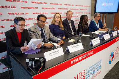 The Netherlands, Amsterdam, 25-7-2018.  Press conference: The future of HIV funding. Photo: Rob Huibers for IAS.  (Please publish always with complete attribution).