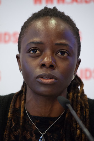The Netherlands, Amsterdam, 25-7-2018.  Press conference: The future of HIV funding. Maureen Milanga, activist Kenia. Photo: Rob Huibers for IAS.  (Please publish always with complete attribution).