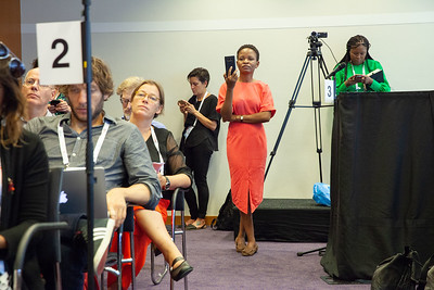 The Netherlands, Amsterdam, 25-7-2018.  Press conference: The future of HIV funding: the public, questions. Photo: Rob Huibers for IAS.  (Please publish always with complete attribution).