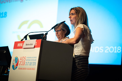 22nd International AIDS Conference (AIDS 2018) Amsterdam, Netherlands.   Copyright: Steve Forrest/Workers' Photos/ IAS  Photo shows: Symposium Session: Drugs, drug policy, harm reduction: A reality check.