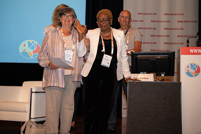 22nd International AIDS Conference (AIDS 2018) Amsterdam, Netherlands.   Copyright: Steve Forrest/Workers' Photos/ IAS  Photo shows: IAS Injecting Drug Use Research Prize winners during the Symposium Session: Drugs, drug policy, harm reduction: A reality check.