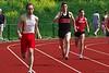 Sander met een behoorlijk goede tijd op de 400m