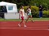 Sander loopt met de hulp van een flinke wind een dik nieuw PR op de 100m.