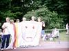 Op de foto met DE vlag!