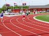 Mark Broekman op de 400m.