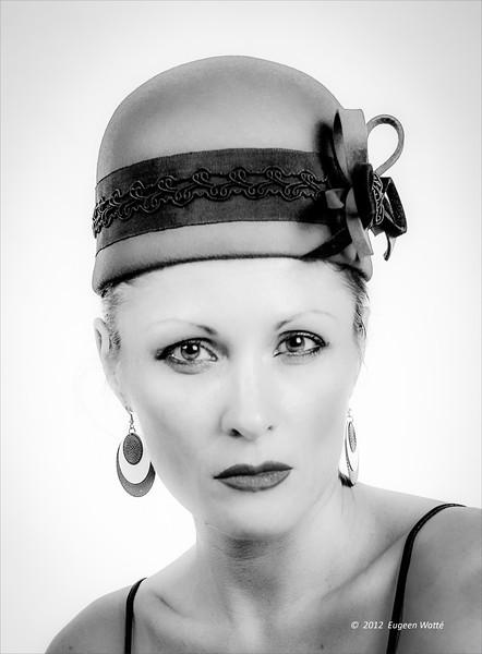 Natalia met hoed.