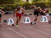 En de start van de 100m voor Femke.