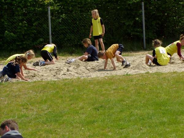 En ook de zandbakken waren goed gevuld