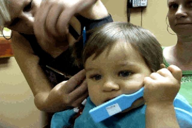 An early Donovan haircut. . . .