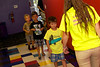 Donovan got to lead the line of kids back to the bounce rooms
