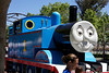 Taking a ride on Thomas the Tank Engine