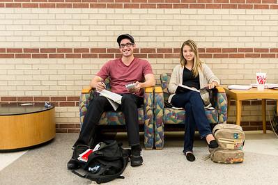 Chris Hernandez and Paulina Phillips work side by side on their engineering studies.