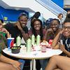 Tiera Pazon(left), Kedrah Wade, Deja Jackson, Tamera Cain and Destyne Simmons enjoy their lunch in University Center.