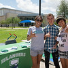 Priscilla Hinostrosa(left), member of Islander Athletics, Keith Bayless and Jasmin Lopez pause for a photo outside UC.