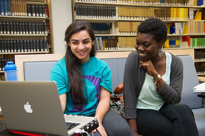 Shannay Baradaran and Apefa Pendanoy enjoy watching state of union for political science.