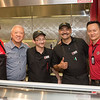 Panda Express CEO Andrew Cherng(2nd from the left) came by the TAMU-CC Cove on Wednesday September 23, 2015.